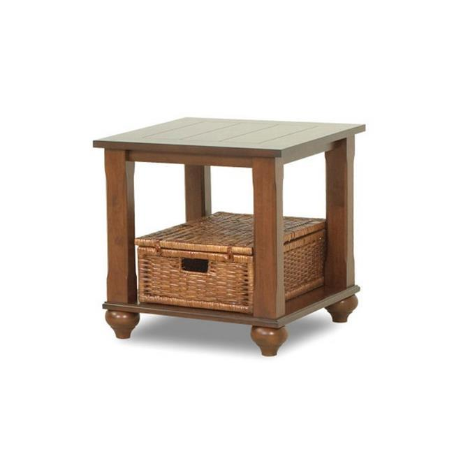 Furniture 12013180693 23 x 23 x 27 in. Treasures Brown End Table, Brown by Klaussner