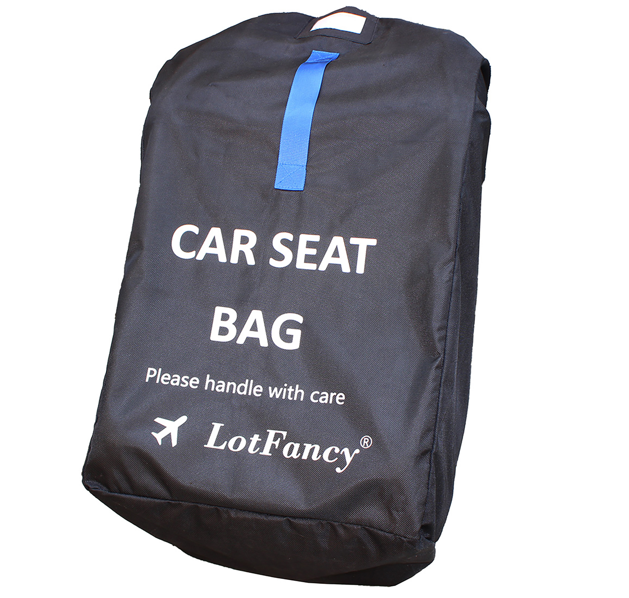 Lotfancy Car Seat Travel Bag With Shoulder Straps Zipper Pouch
