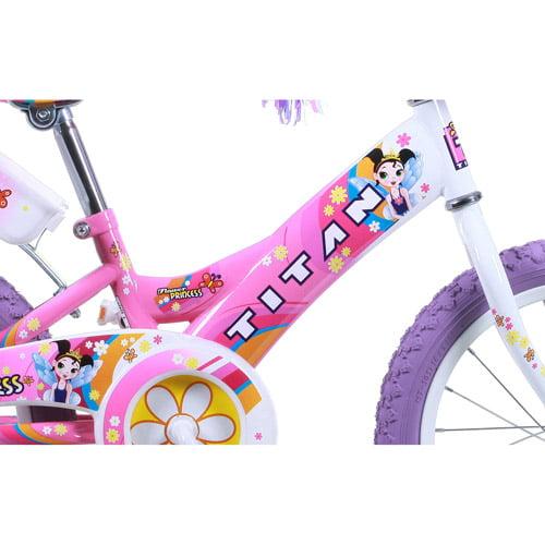 "16"" Titan Flower Princess Girls' BMX Bike by"