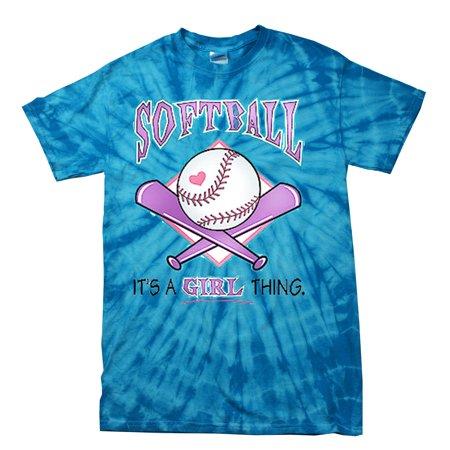 Softball Tie Dye T-shirt It's a Girl Thing (Cheap Tie Dye Shirts)
