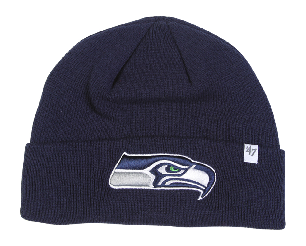 NFL Seattle Seahawks '47 Raised Cuff Knit Hat, Navy, One Size by