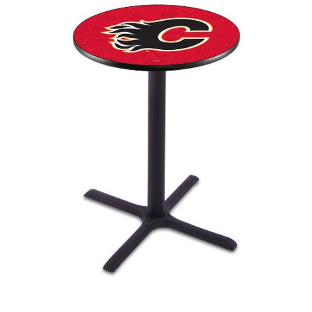 NHL Pub Table by Holland Bar Stool, Black Calgary Flames, 42'' L211 by