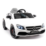 2020 Mercedes Benz Kids Ride On Car 12V Licensed Electric Cars Motorized Vehicles for Boys, Remote Control, Leather Seat, Music, Horn