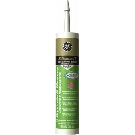 GE Silicone Concrete Caulk Cartridge, GE5020, Light Gray, 10.1 Oz. Light Duty Concrete