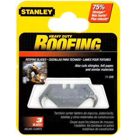 STANLEY 11-939 Roofing Asb Utility Blades, 5pk