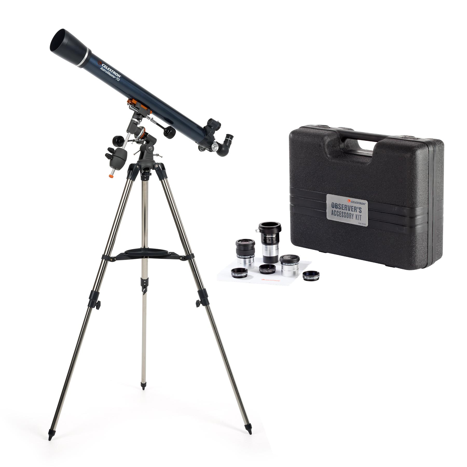 Celestron PowerSeeker 70EQ Refractor with Accessory Kit
