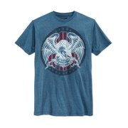 Retrofit Mens Eagle Freedom Graphic T-Shirt navy S