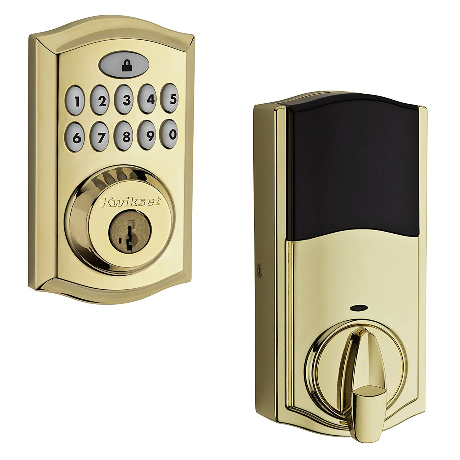 Kwikset 99130-001 Polished Brass SmartCode® 913 Electronic Deadbolt