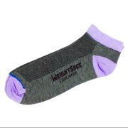504 Double Layer Coolmesh Low Quarter Sock, Grey / Lavender, Small