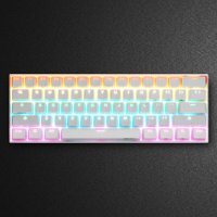 ANNE PRO 2 Gateron Brown Switch 60% RGB Mechanical Gaming Keyboard Wireless / Wired Dual Mode Connection USB & bluetooth 4.0