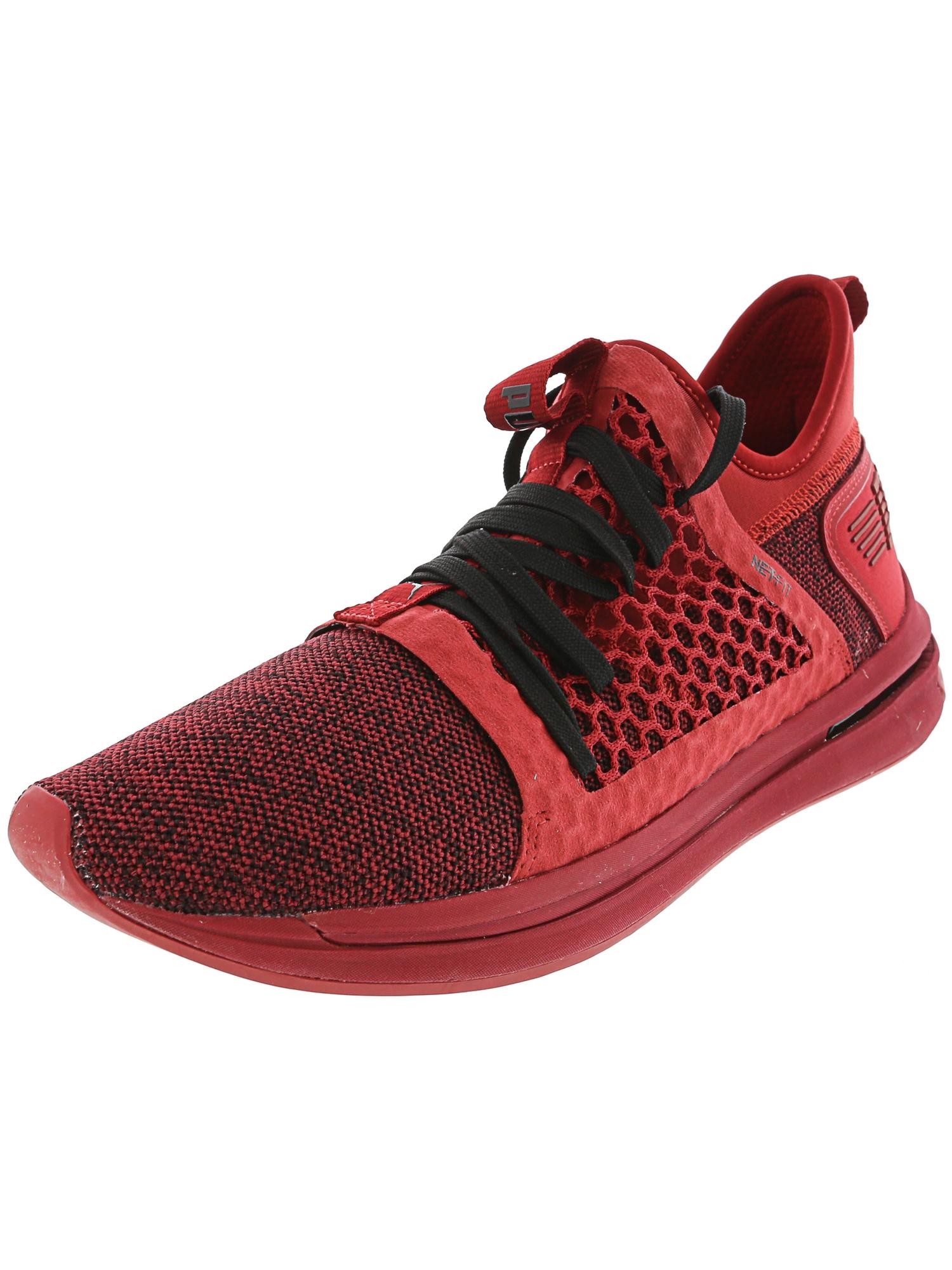 Puma Men's Ignite Limitless Sr Netfit Red Dahlia Ankle-High Fashion Sneaker - 12M