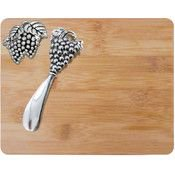 KitchenWorthy Cheese Board and Spreader Set (12 Units Included)