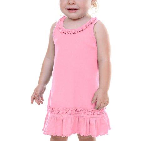 Kavio! Infants Sunflower Dress Bubblegum Pink 6M - Red Dress For Infant