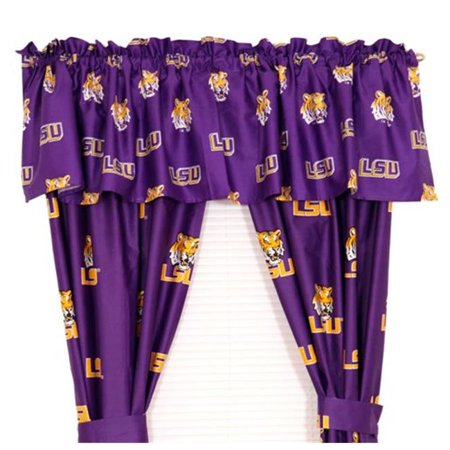 LSU Printed Curtain Panels 42 in. X 84 in.