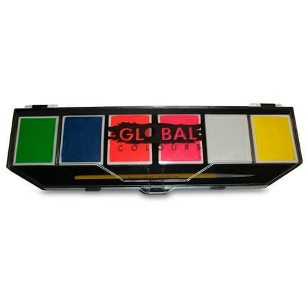 Art Global Body Neon Visage Peinture Palette (6 - couleurs - 10 g)