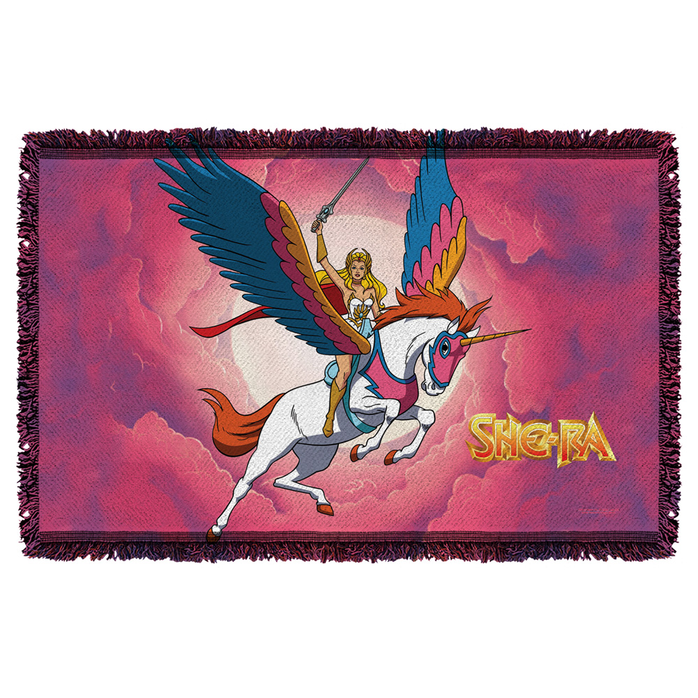 She Ra Clouds Woven Throw Tapestry 36X60 White One Size