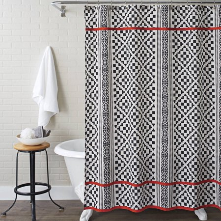 Better Homes And Gardens Shower Curtain Aztec Diamonds