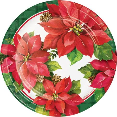 Christmas Poinsettia Paper 6.75