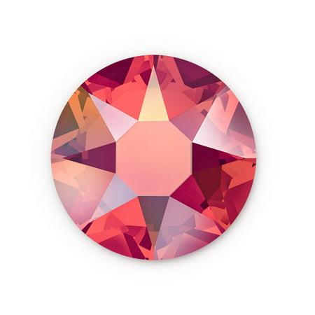 Siam Swarovski Hot Fix Light (Swarovski Xilion Rose Hot Fix Crystals 2028 4.7mm Light Siam AB (Package of 10))