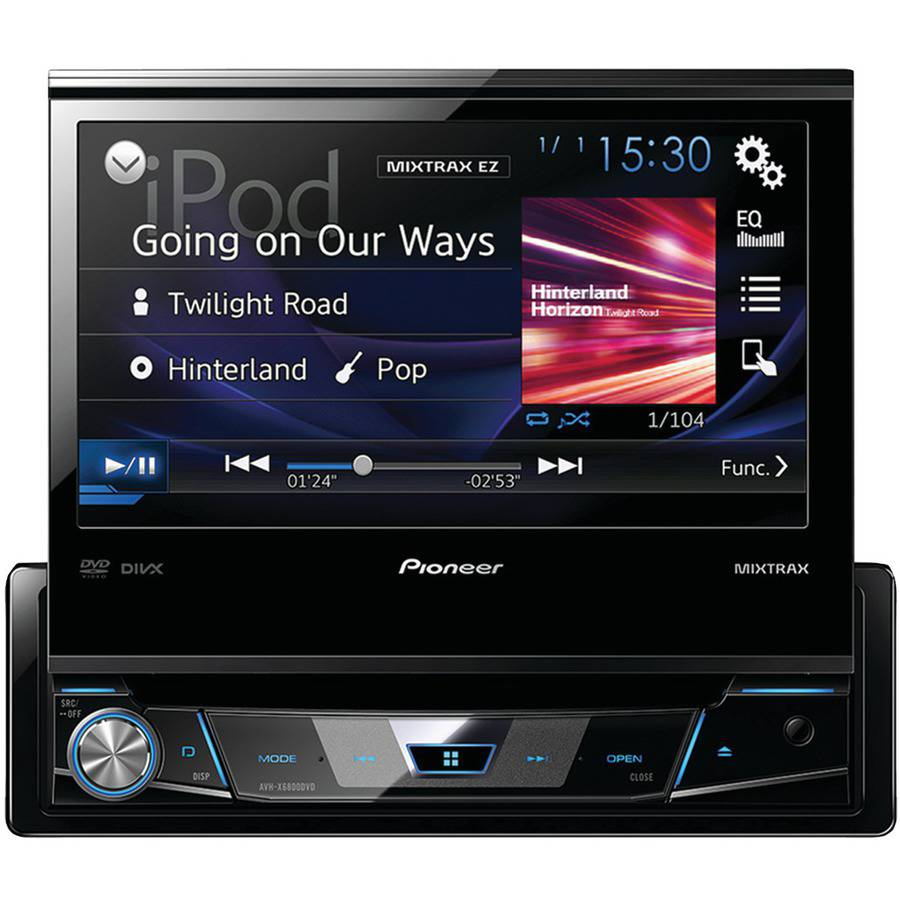 """Pioneer Avh-x6800dvd 7"""" Single-DIN In-Dash DVD Receiver with Flip-out Display, Spotify and AppRadio One by Pioneer"""