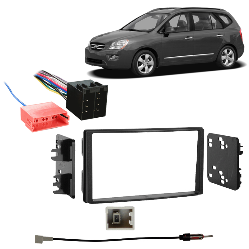 Black Metra 95-7329 Double DIN Installation Kit for 2007-Up Kia Rondo Vehicles