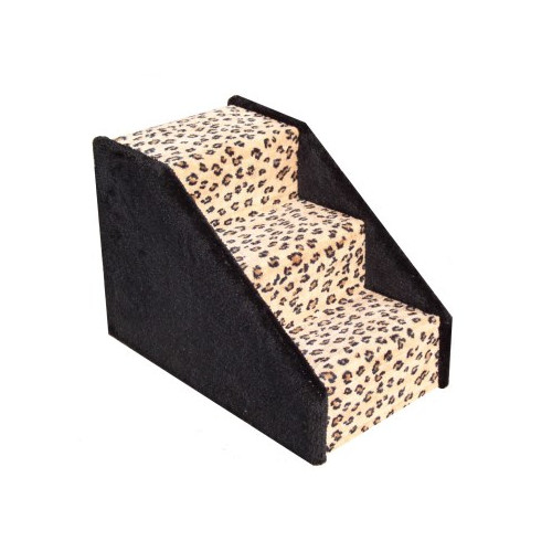 Animal Stuff Dog Stairs Carpeted 3 Step Pet Stair