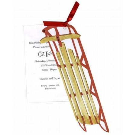 Stevie Streck Designs HW739BOX luge All The Way Avec Tag ruban rouge sans paillettes - image 1 de 1