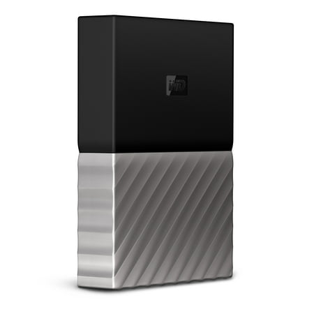 WD 2TB Black/Gray My Passport Ultra Portable External Hard Drive with Metal Finish - USB 3.0 - Model WDBFKT0020BGY-WESN