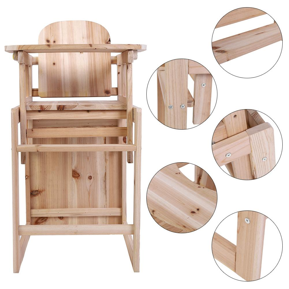 Ejoyous Baby Feeding Chair & Table Set Solid Wooden Detachable Highchair with Adjustable Tray,Baby High Chair,... by Ejoyous