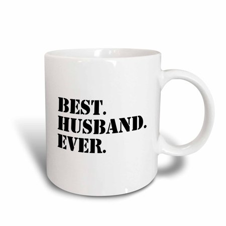 3dRose Best Husband Ever - fun romantic married wedded love gifts for him for anniversary or Valentines day, Ceramic Mug,