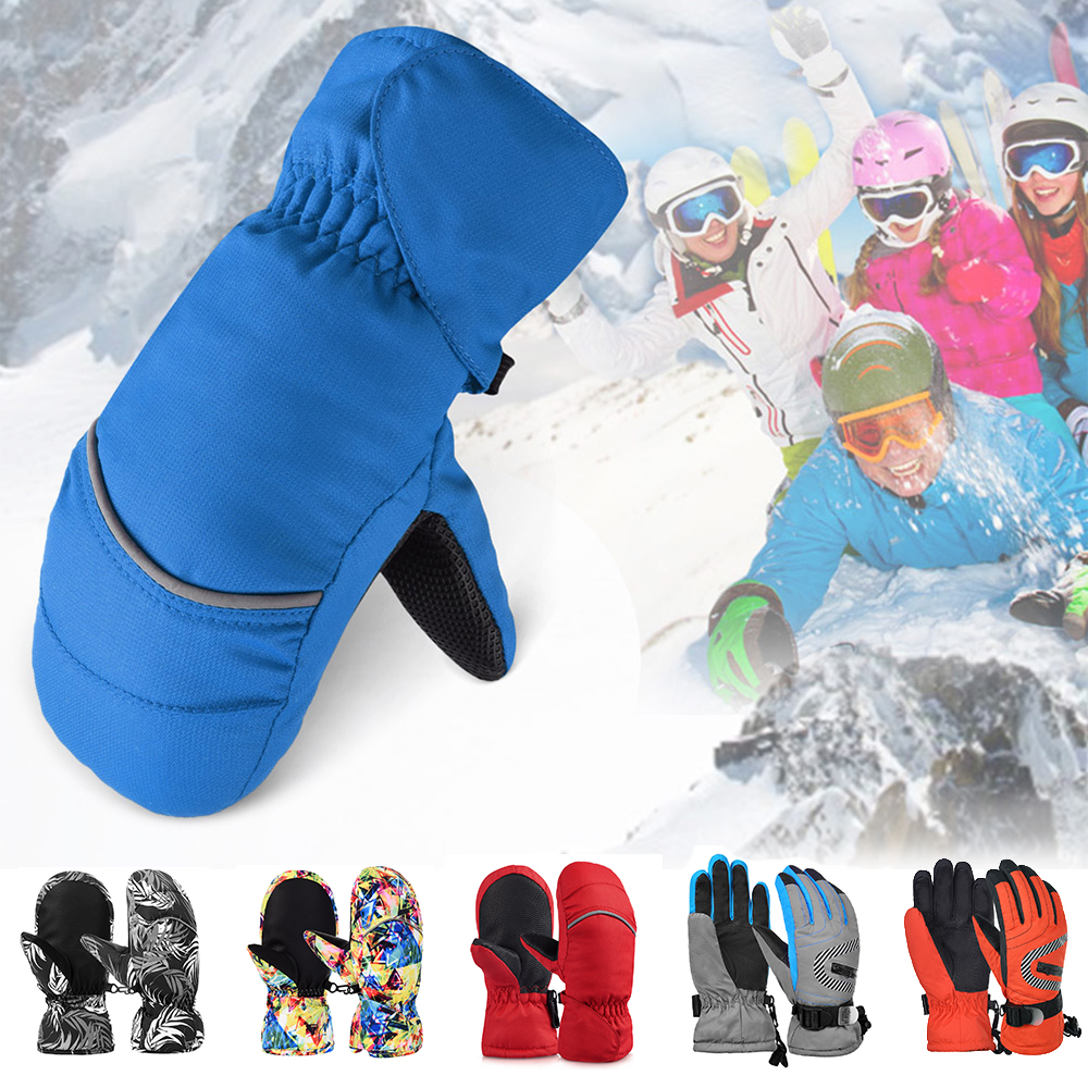 Toppers Kids Boys Girls Waterproof Windproof Ski Mitten Gloves