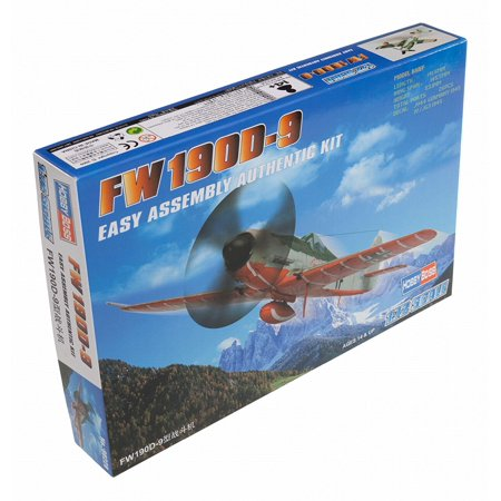 Fw 190D-9 Airplane Model Building Kit, 1/72 Scale, Pre-installed unpainted cockpit By Hobby Boss (48 Scale Hobby Boss)