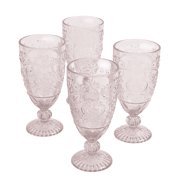 The Pioneer Woman Amelia 14.7-Ounce Rose Tea Goblets, Set of 4