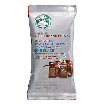Starbucks Coffee Pike Place Decaf 2 1/2 oz Packet 18/Box ...