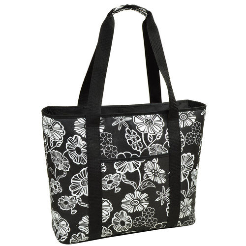 Extra Large Insulated Cooler Tote in Night Bloom