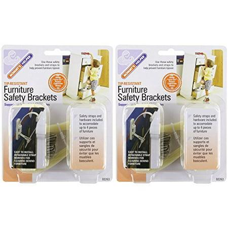 Mommy's Helper - Tip Resistant Furniture Safety Brackets, 2 Pack ()