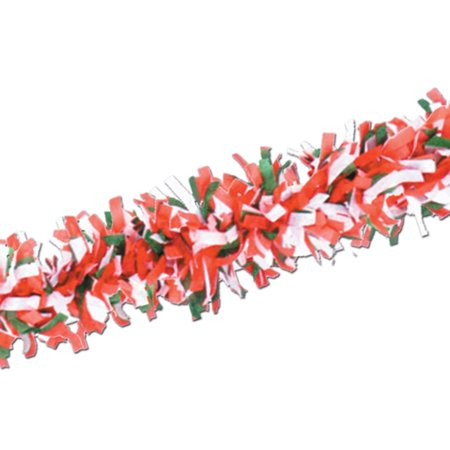 Club Pack of 12 Packaged Italian Red, White and Green Tissue Festooning Decorations - Red And White Decorations