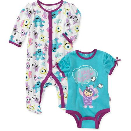 Disney Newborn Girls 2 Piece Monsters Inc Creeper And
