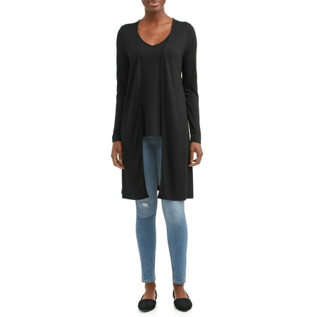 - Women's Long Cardigan and Knit Tank Top Bundle