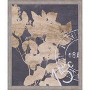 Paragon Postage Leaves IV by Goldberger Framed Graphic Art