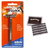 Gillette 7 O'Clock PII Trac II Razor + Colonel Ichabod Conk Trac II Blade Cartridges 10 ct.