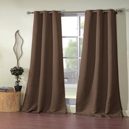 Ashmury 38 in. W x 84 in. L Polyester Window Panel in Chocolate (2