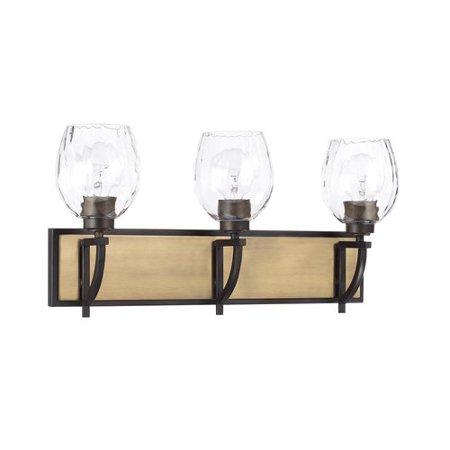 Brayden Studio Jamil 3-Light Vanity Light with Clear Watered Glass