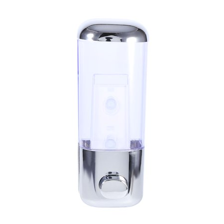 500ml Bathroom Shampoo Dispenser Wall Mounted Chrome Shower Shampoo Liquid Soap Lotion Dispenser Bathroom Home Washroom