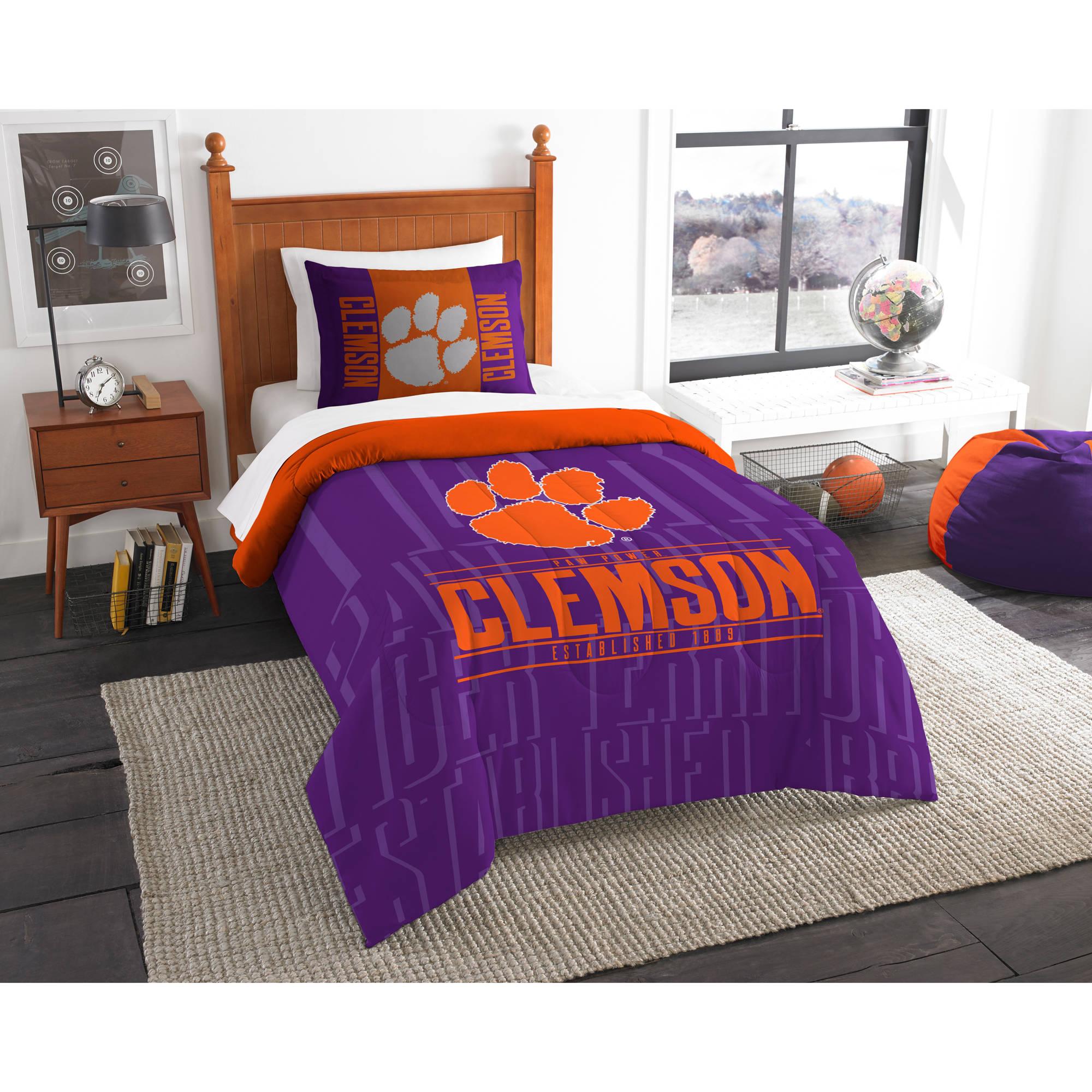 "NCAA Clemson Tigers ""Modern Take"" Bedding Comforter Set"