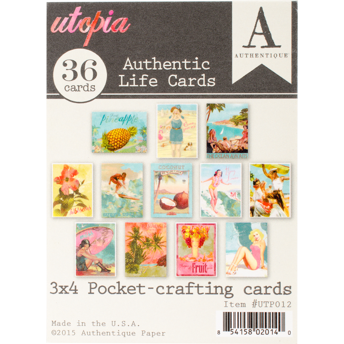 "Utopia Authentic Life Cards, Pocket Crafting & Journaling, 3"" x 4"" Cards"