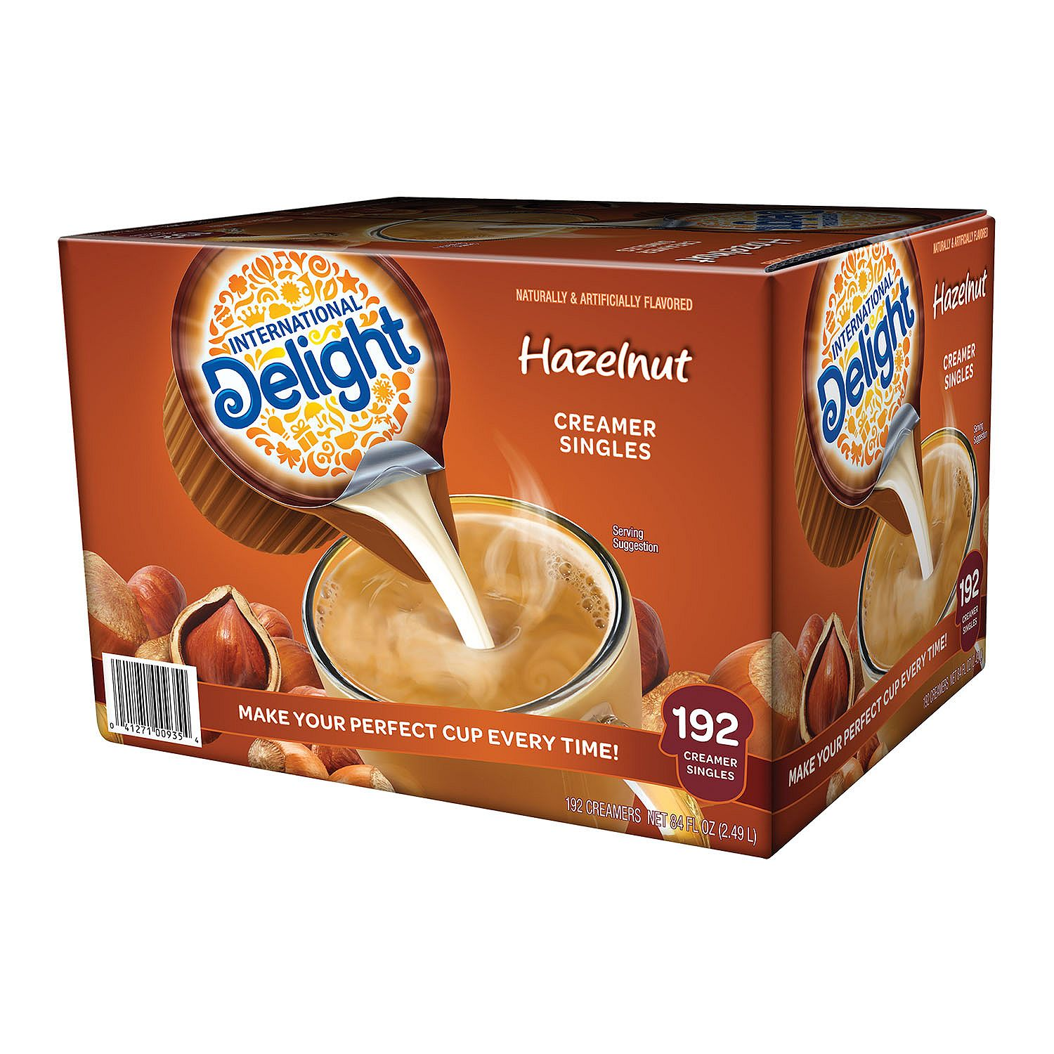 Product of International Delight Hazelnut Coffee Creamer Singles (192 ct.)- Pack of 2 - [Bulk Savings]