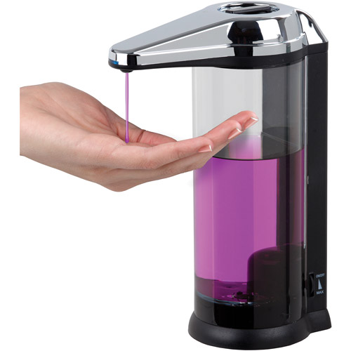 Touchless Dispenser, Black and Chrome