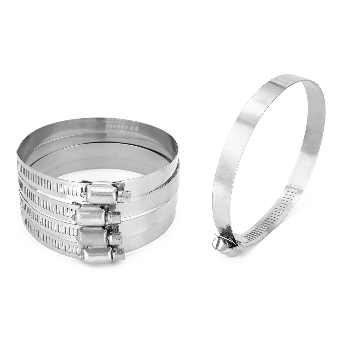105mm to 127mm Clamping Range 304 Stainless Steel American Hose Clamp 5pcs - image 1 of 1