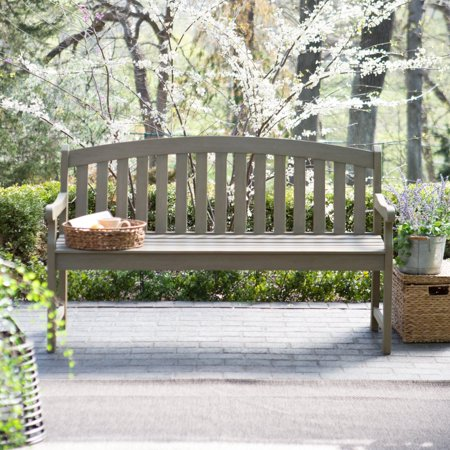 C Coast Amherst Curved Back 5 Ft Outdoor Wood Garden Bench Driftwood
